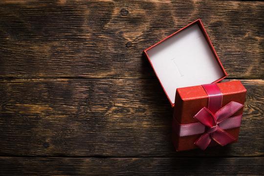 Empty gift box