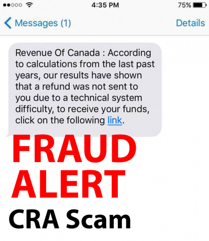 Fraud Alert Canada Revenue Agency Text Messaging Scam New Brunswick Financial And Consumer Services Commission Fcnb